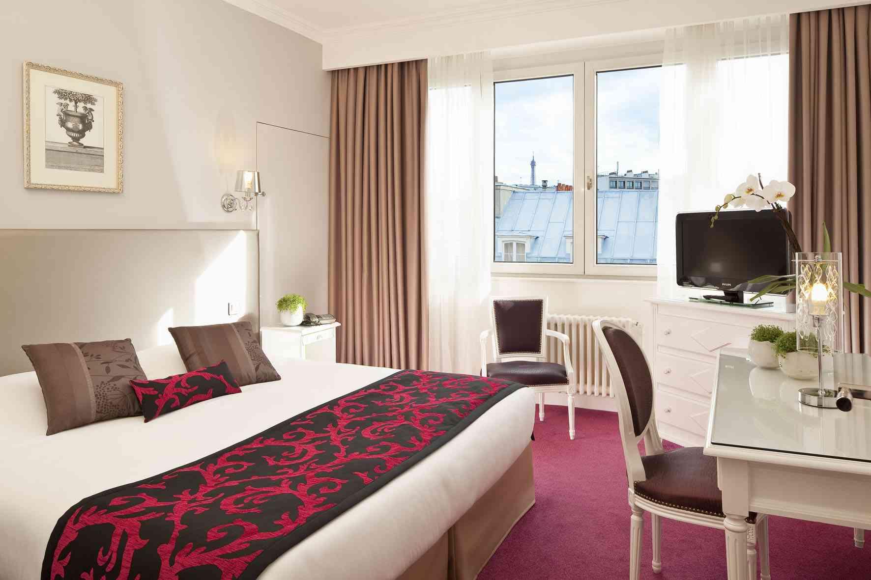 Rénovation chambre Hotel étoile Saint honoré