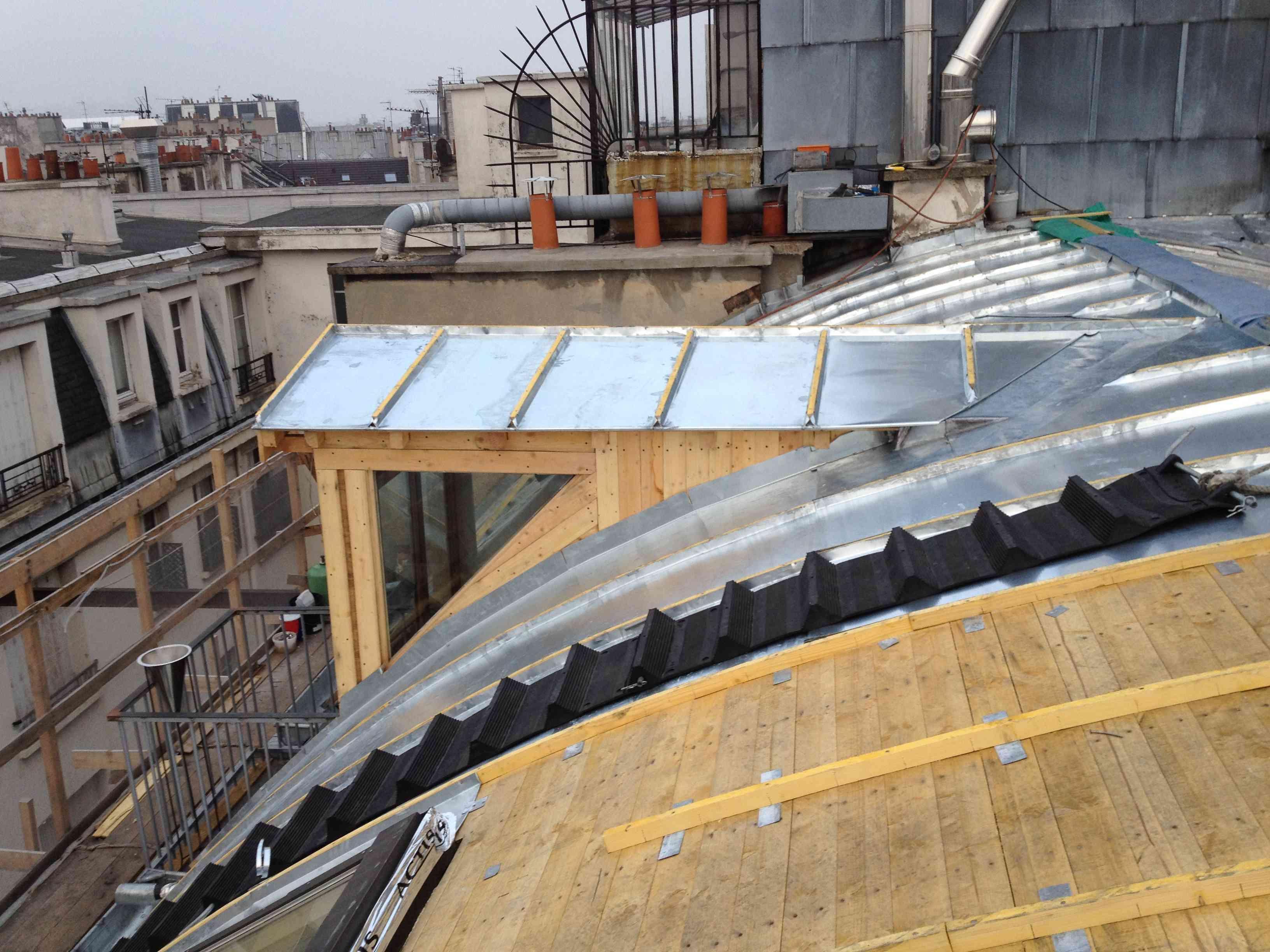 Rénovation de toiture en Zinc